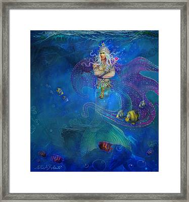Framed Print featuring the painting Mermaid Prince by Steve Roberts