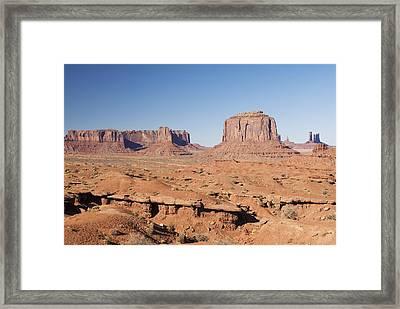 Merrick Butte Framed Print by Gloria & Richard Maschmeyer