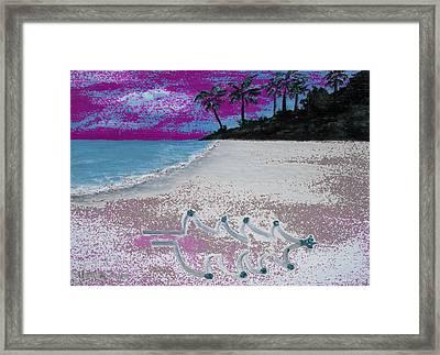 Merry Beachy Christmas Framed Print