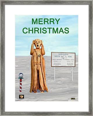 Merry Christmas Scream Framed Print