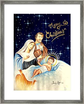 Merry Christmas Framed Print by Tanmay Singh