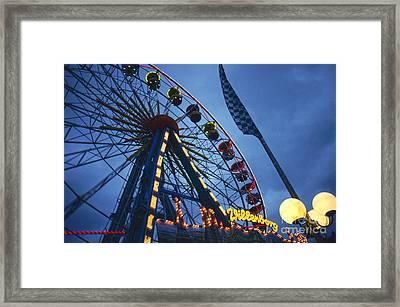 Merry-go-round On Hamburg Dom Framed Print