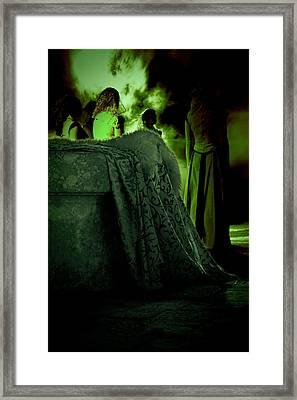 Merry Meet Green Framed Print by Jasna Buncic