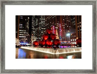 Merry New York City Christmas Framed Print