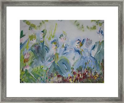Merry Waltz Framed Print by Judith Desrosiers