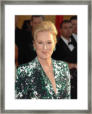 Meryl Streep At Arrivals For 16th Framed Print by Everett