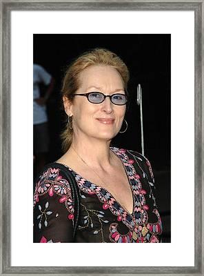 Meryl Streep At Arrivals For The 2006 Framed Print by Everett
