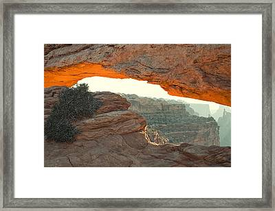 Mesa Arch Framed Print by Andrew Soundarajan