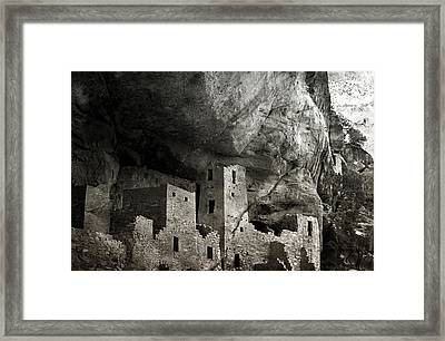 Mesa Verde - Monochrome Framed Print by Ellen Heaverlo