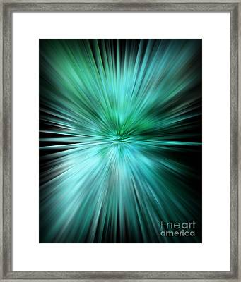 Mesmerizing Aqua Abstract Framed Print