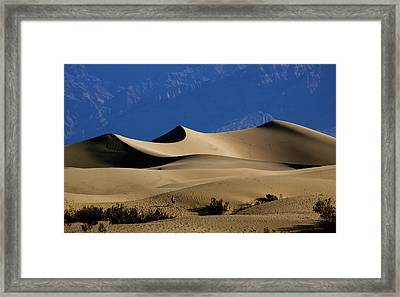 Mesquite Dunes At Death Valley Framed Print