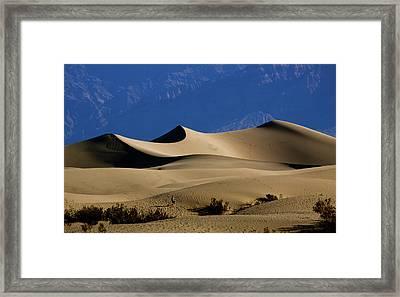 Mesquite Dunes At Death Valley Framed Print