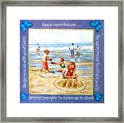 Message Art Framed Print