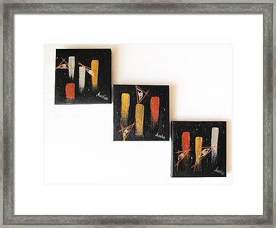 Message From The Future - Set Of 3 Framed Print by Marianna Mills