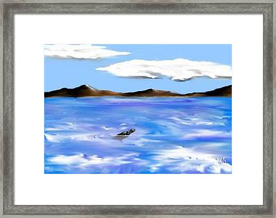 Message In A Bottle Framed Print by Angela Stout