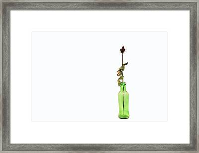 Message Framed Print by Zafer GUDER