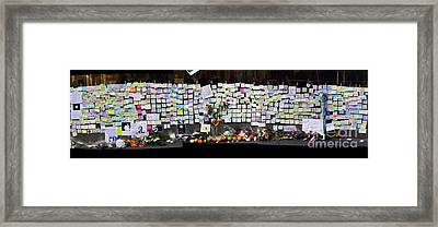 Messages To Steve Jobs . Rip . San Francisco Apple Store Memorial . Left Side . October 5 2011 Framed Print by Wingsdomain Art and Photography
