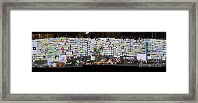 Messages To Steve Jobs . Rip . San Francisco Apple Store Memorial . Left Side . October 5 2011 Framed Print