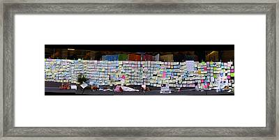Messages To Steve Jobs . Rip . San Francisco Apple Store Memorial . Right Side . October 5 2011 Framed Print by Wingsdomain Art and Photography