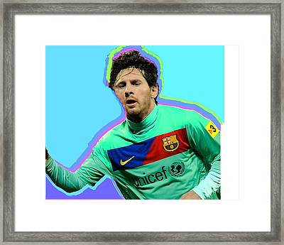 Messi Nixo Framed Print by Nicholas Nixo