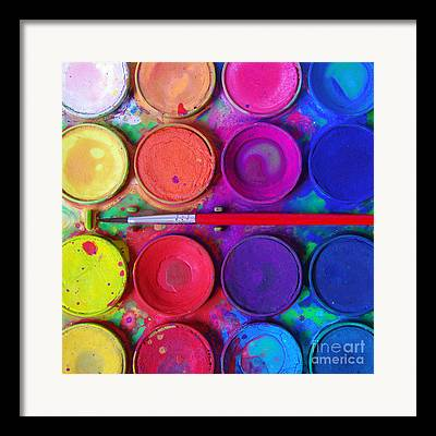 Vivid Color Palette Framed Prints