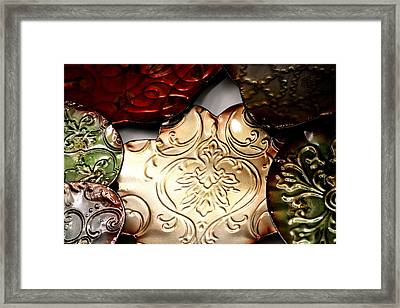 Metal Art 1 Framed Print by Karen M Scovill