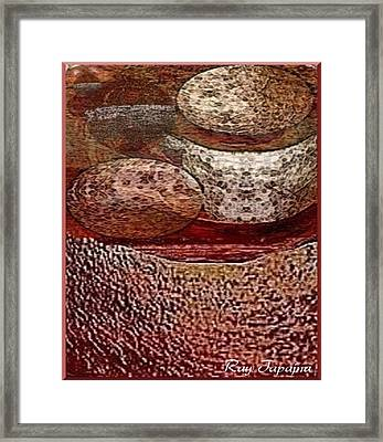 Framed Print featuring the mixed media Metal Art Rocks by Ray Tapajna