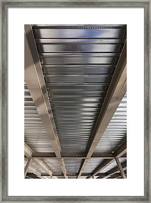 Metal Decking Over Structural Steel Framed Print by Don Mason