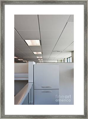Metal Drawers And Shelf Framed Print by Jetta Productions, Inc