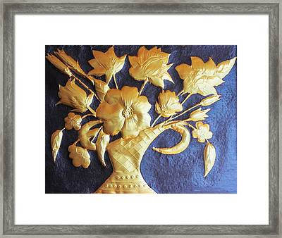 Metal Flowers Framed Print by Rejeena Niaz