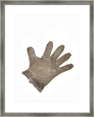 Metal Mesh Glove Framed Print