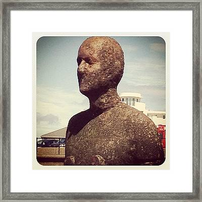 Metal Nipples!! #anotherplace #crosby Framed Print