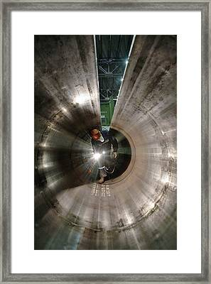 Metal Pipe Manufacturing Work Framed Print by Ria Novosti