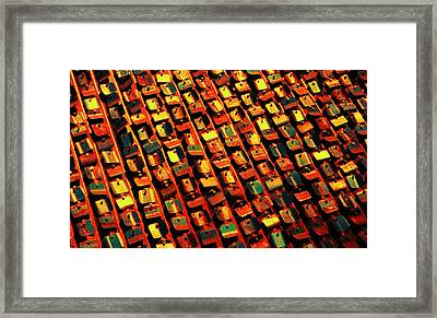 Metal Sign Abstract Framed Print