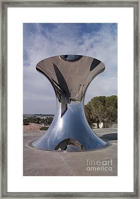 Metal Reflective Sculpture Framed Print by Noam Armonn