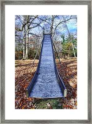 Metal Slide In Children's Playground Framed Print