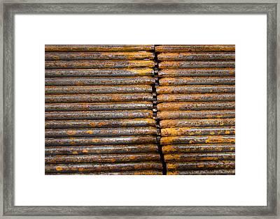 Rusty Rebar Roundup Framed Print