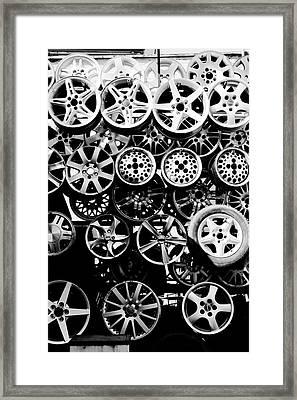 Metal Wheels Framed Print by Ion-Bogdan DUMITRESCU