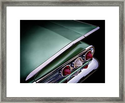 Metalic Green Impala Wing Vingage 1960 Framed Print