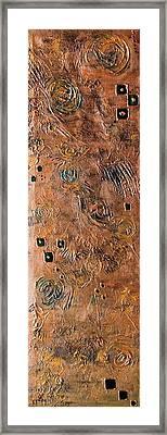 Metallic Abstract Framed Print by Srijanani Sundararajan