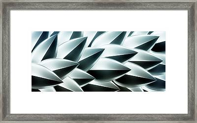 Metallic Feathers, Full Frame Framed Print by Ralf Hiemisch