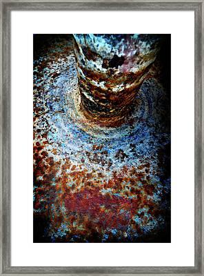 Framed Print featuring the photograph Metallic Fluid by Pedro Cardona