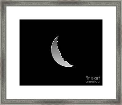 Metallic Moon Framed Print