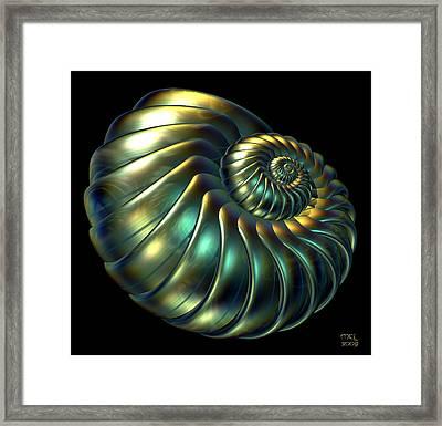 Metallic Nautiloid Framed Print