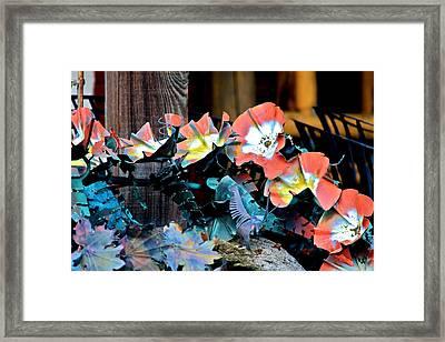 Metallic Poppies Framed Print by Karon Melillo DeVega