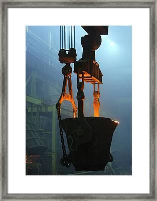 Metalworks Foundry Equipment Framed Print by Ria Novosti