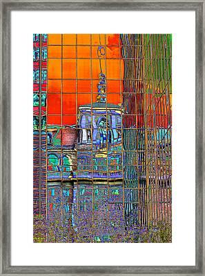 Metamorphosis In Pop Art Colors Framed Print by Phyllis Denton