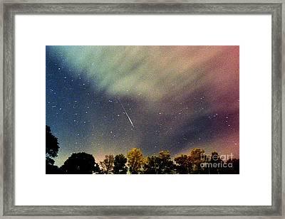 Meteor Perseid Meteor Shower Framed Print