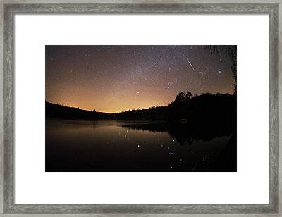 Meteor Shower Framed Print by Laurent Laveder