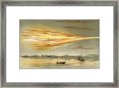 Meteorite Explosion, Historical Artwork Framed Print by Detlev Van Ravenswaay